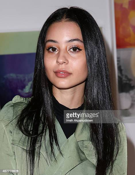 Alexa Demie attends the Birchbox DrJart media dinner at Mark Moore Gallery on October 22 2014 in Culver City California