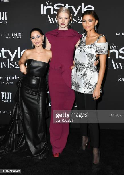 Alexa Demie Hunter Schafer and Zendaya attend the 2019 InStyle Awards at The Getty Center on October 21 2019 in Los Angeles California