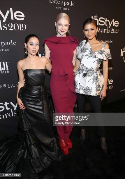 Alexa Demie Hunter Schafer and Zendaya attend the Fifth Annual InStyle Awards at The Getty Center on October 21 2019 in Los Angeles California