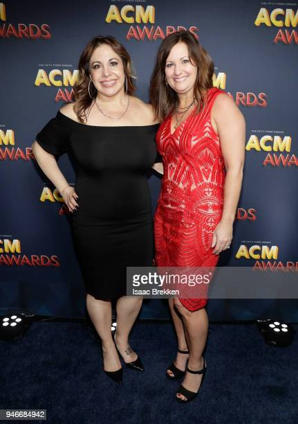 Alexa Fasheh and Lori Badgett attends the 53rd Academy of Country Music Awards at MGM Grand Garden Arena on April 15 2018 in Las Vegas Nevada