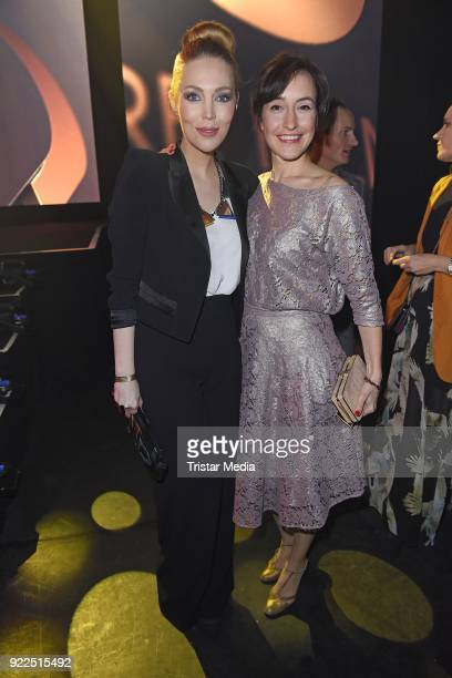 Alexa Feser and Maike von Bremen attend the 99FireFilmsAward on February 21 2018 in Berlin Germany