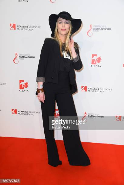 Alexa Feser attends the 9th GEMA Musikautorenpreis at Ritz Carlton Hotel on March 30 2017 in Berlin Germany