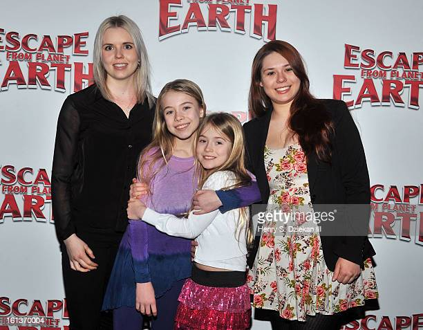 Alexa Gerasimovich and Ashley Gerasimovich and guests attend The Weinstein Company Hosts A Special Screening Of Escape From Planet Earth at Ziegfeld...