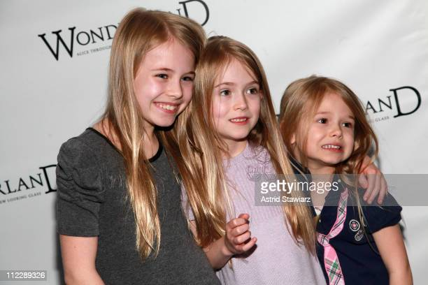 Alexa Gerasimovich Ashley Gerasimovich and Erin Gerasimovich attend the Broadway opening night of 'Wonderland Alice Through A Whole New Looking...