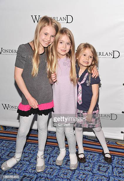 Alexa Gerasimovich Ashley Gerasimovich and Erin Gerasimovich attends the Broadway opening night of 'Wonderland Alice Through A Whole New Looking...