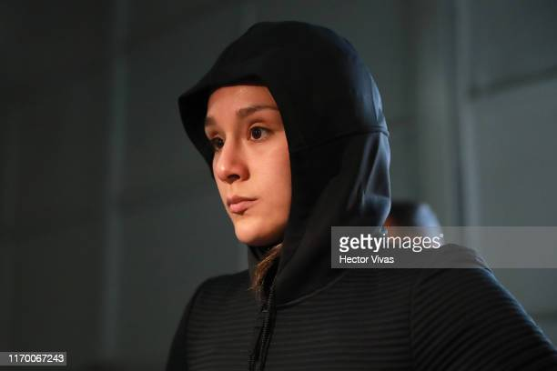 Alexa Grasso arrives to the Arena during UFC Fight Night Rodriguez v Stephens at Arena Ciudad de Mexico on September 21 2019 in Mexico City Mexico