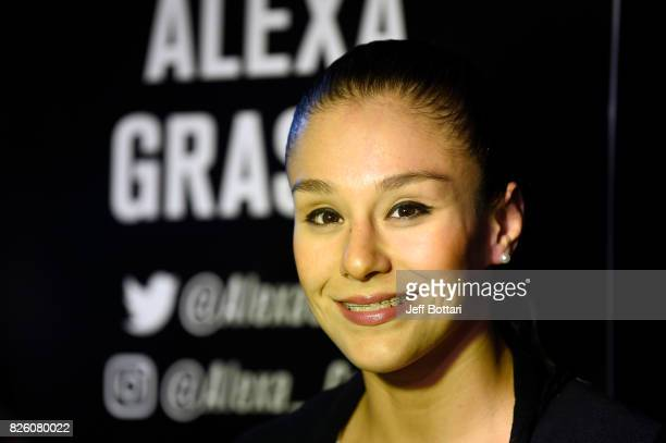 Alexa Grasso of Mexico interacts with media during the UFC Ultimate Media Day at the W Hotel on August 3 2017 in Mexico City Mexico
