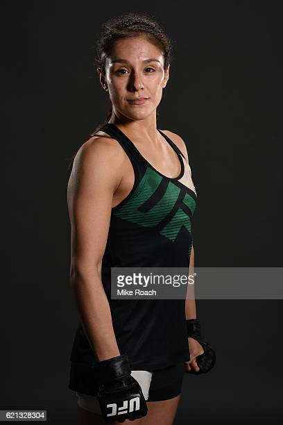 Alexa Grasso of Mexico poses backstage for a post fight portrait during the UFC Fight Night event at Arena Ciudad de Mexico on November 5, 2016 in...