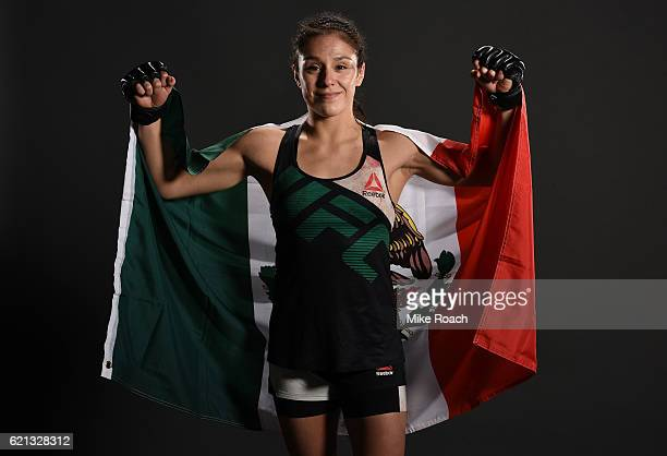 Alexa Grasso of Mexico poses backstage for a post fight portrait during the UFC Fight Night event at Arena Ciudad de Mexico on November 5 2016 in...