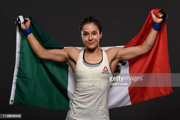 Alexa Grasso of Mexico poses for a portrait backstage during the UFC 238 event at the United Center on June 8 2019 in Chicago Illinois