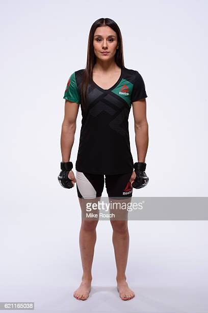 Alexa Grasso of Mexico poses for a portrait during a UFC photo session at the JW Marriott Hotel on November 2 2016 in Mexico City Mexico