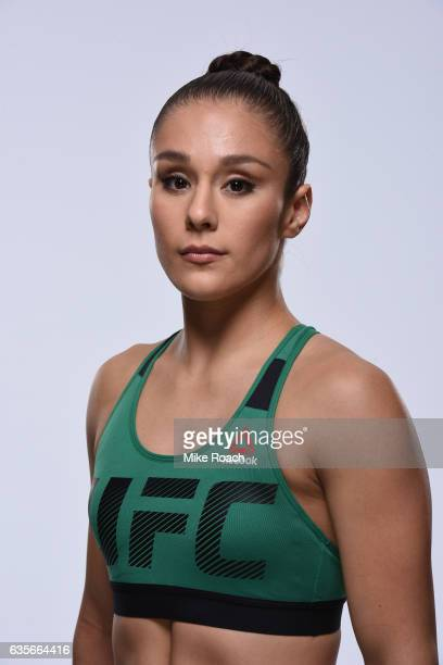 Alexa Grasso of Mexico poses for a portrait during a UFC photo session at the Sheraton North Houston at George Bush Intercontinental on February 1,...