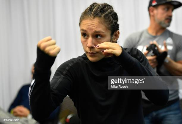 Alexa Grasso of Mexico warms up prior to her bout against Tatiana Suarez during the UFC Fight Night event at Movistar Arena on May 19 2018 in...