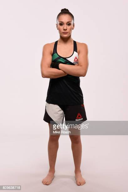 Alexa Grasso poses for a portrait during a UFC photo session at the JW Marriott Hotel on August 2 2017 in Mexico City Mexico