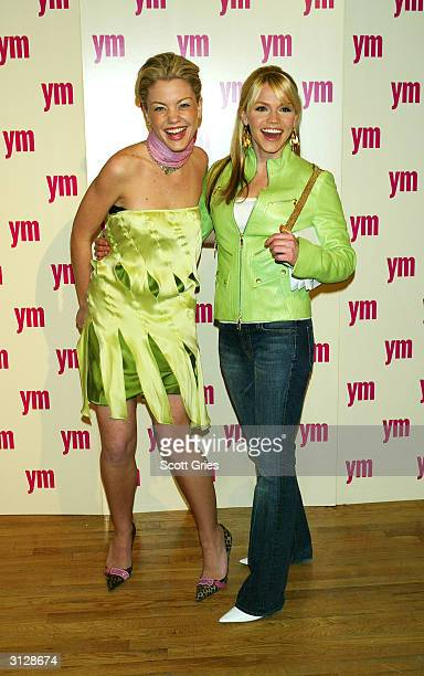 Alexa Havins on right and Bree Williamson arrives at the 5th Annual YM MTV Issue party at Spirit March 24 2004 in New York City