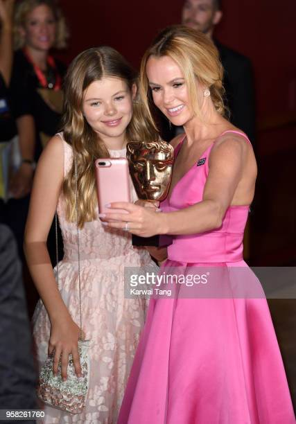 Alexa Hughes and Amanda Holden pose in the press room during the Virgin TV British Academy Television Awards at The Royal Festival Hall on May 13...