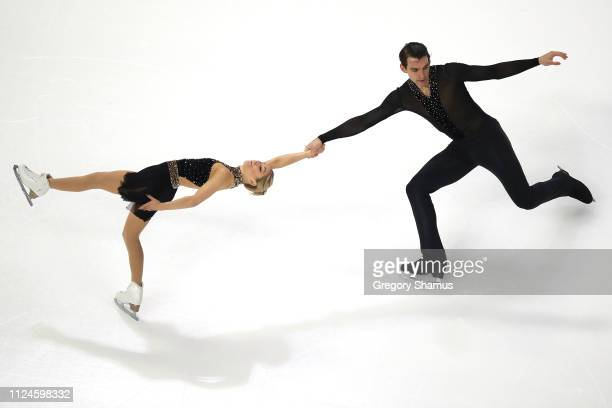 Alexa Knierim and Christopher Knierim compete in the championship pairs short program during the 2019 Geico U.S. Figure Skating Championships at...