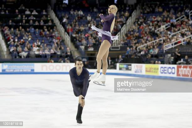 Alexa Knierim and Christopher Knierim skate in the Pairs Free skate during the 2020 U.S. Figure Skating Championships at Greensboro Coliseum on...