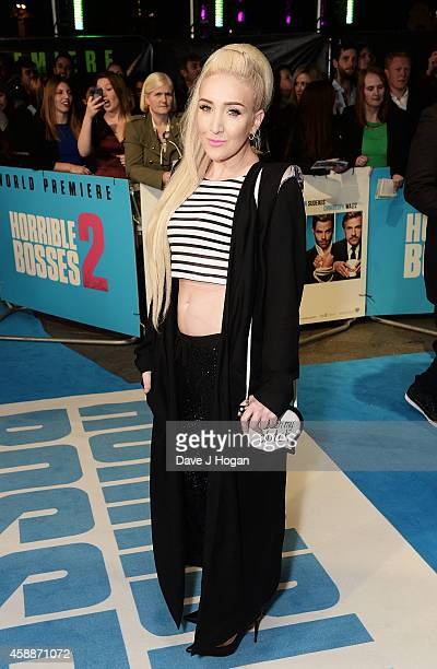 Alexa Knox attends the UK Premiere of Horrible Bosses 2 at the Odeon West End on November 12 2014 in London England