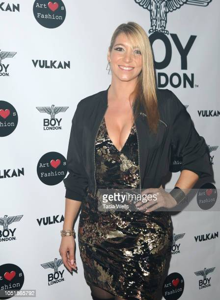 Alexa Lace attends BOY London hosts preFashion Week party with Vulkan Magazine and Art Hearts Fashion at BOY London Flagship Store on October 10 2018...