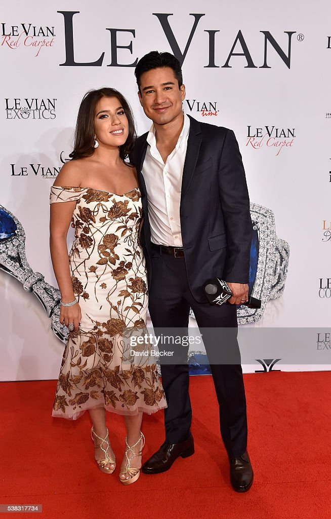 Alexa LeVian (L) and television personality Mario Lopez attend the Le Vian 2017 Red Carpet Revue at the Mandalay Bay Convention Center on June 5, 2016 in Las Vegas, Nevada.