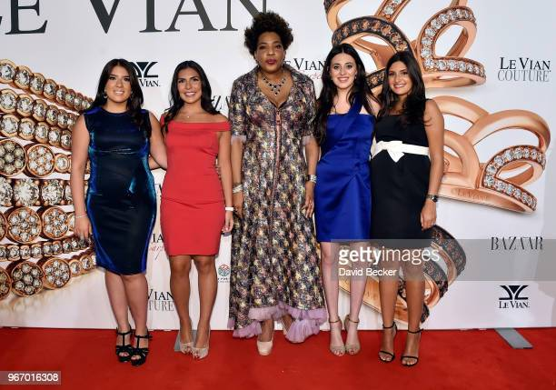 Alexa LeVian Chloe LeVian singer Macy Gray Lexy LeVian and Naomi LeVian attend the Le Vian 2019 Red Carpet Revue at the Mandalay Bay Convention...