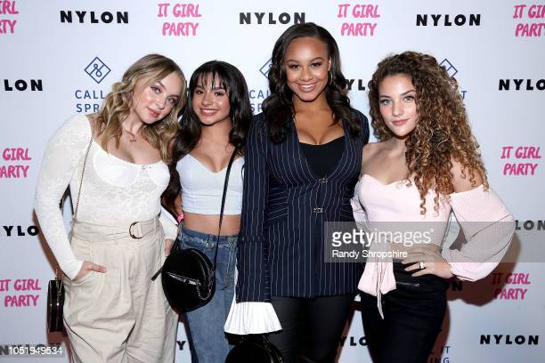 Alexa Losey Tati McQuay Nia Sioux and Sofie Dossi attend NYLON's annual It Girl Party sponsored by Call It Spring at Ace Hotel on October 11 2018 in...