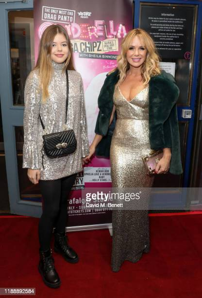 Alexa Louise Florence Hughes and Amanda Holden attend the press night performance of Cinderella at Trafalgar Studios on December 15 2019 in London...