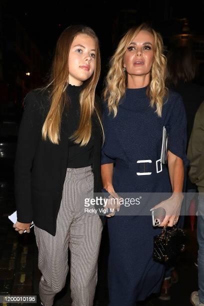 Alexa Louise Florence Hughes and Amanda Holden seen attending the reopening of Les Miserables in the West End on January 16 2020 in London England
