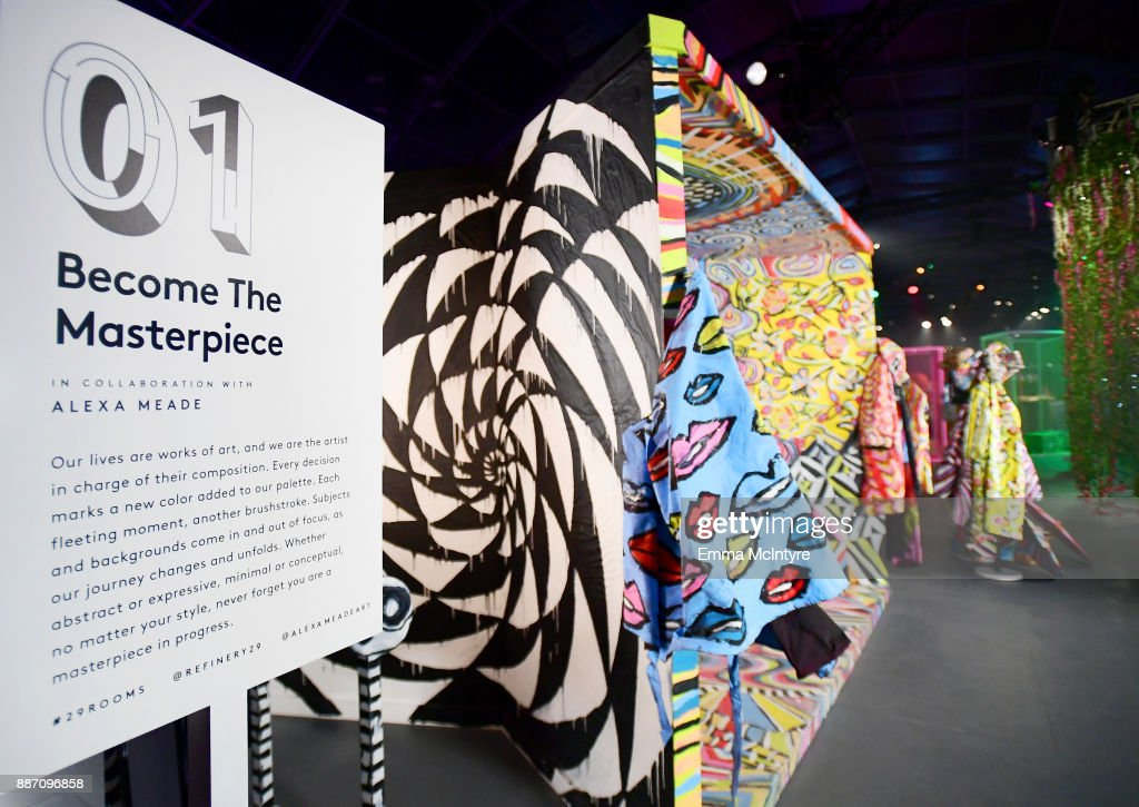 Alexa Meade's, Become The Masterpiece, on display at Refinery29's '29Rooms Los Angeles: Turn It Into Art' on December 6, 2017 in Los Angeles, California.