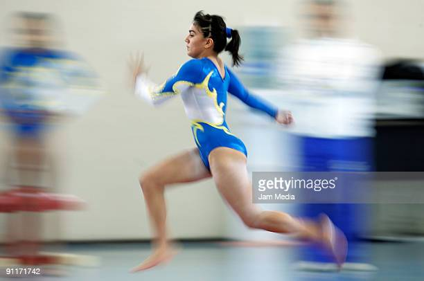 Alexa Moreno during the national selection of artistic gymnastics for the PanAmerican Championship of Brazil at the National Center of Development of...