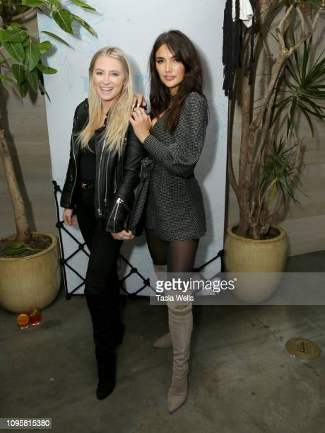 Alexa Munger and Hailee Lautenbach attend the Margot Los Angeles Rooftop Restaurant Opening at Platform at on January 17 2019 in Culver City...