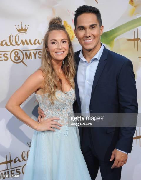 Alexa PenaVega and Carlos PenaVega arrive at the 2017 Summer TCA Tour Hallmark Channel And Hallmark Movies And Mysteries at a private residence on...