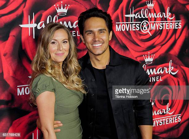Alexa PenaVega and Carlos PenaVega attend Hallmark Channel Movies and Mysteries Winter 2017 TCA Press Tour at The Tournament House on January 14 2017...