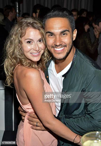 Alexa PenaVega and Carlos PenaVega attend the Grand Opening Of Le Jardin on June 4 2015 in Hollywood California
