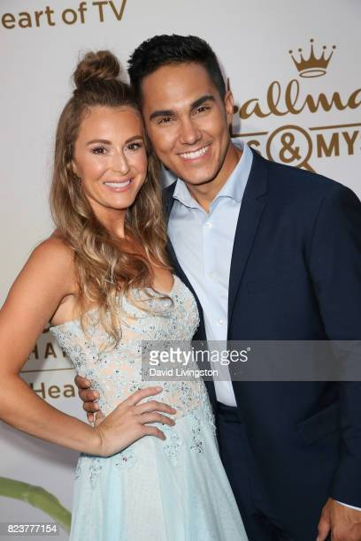 Alexa PenaVega and Carlos PenaVega attend the Hallmark Channel and Hallmark Movies and Mysteries 2017 Summer TCA Tour on July 27 2017 in Beverly...