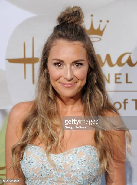 Alexa PenaVega arrives at the 2017 Summer TCA Tour Hallmark Channel And Hallmark Movies And Mysteries at a private residence on July 27 2017 in...