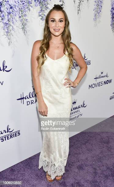 Alexa PenaVega attends the 2018 Hallmark Channel Summer TCA at a private residence on July 26 2018 in Beverly Hills California