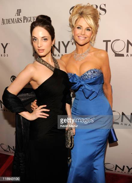 Alexa Ray Joel and Christie Brinkley attend the 65th Annual Tony Awards at the Beacon Theatre on June 12 2011 in New York City