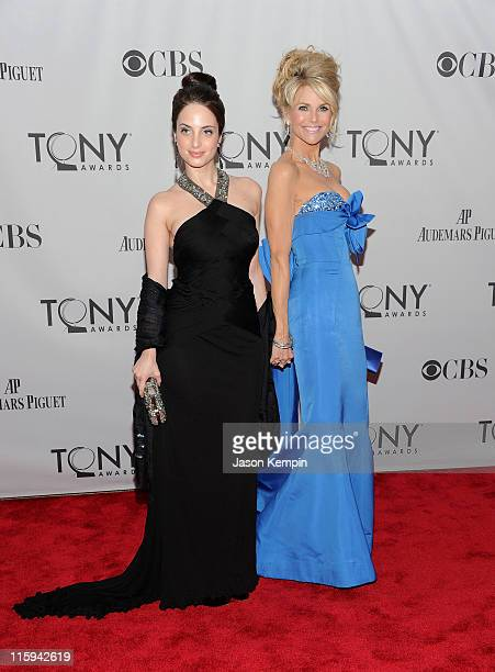 Alexa Ray Joel and Christie Brinkley attends the 65th Annual Tony Awards at the Beacon Theatre on June 12 2011 in New York City