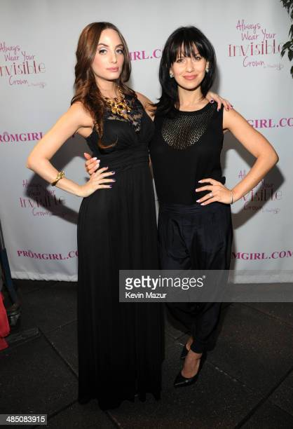 Alexa Ray Joel and Hilaria Thomas Baldwin Partner With PromGirl to Launch #PromGirlUp Selfie Campaign at Gramercy Park Hotel on April 16 2014 in New...