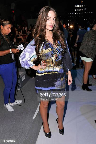 Alexa Ray Joel attends the Custo Barcelona Spring 2013 fashion show during MercedesBenz Fashion Week at The Stage at Lincoln Center on September 9...