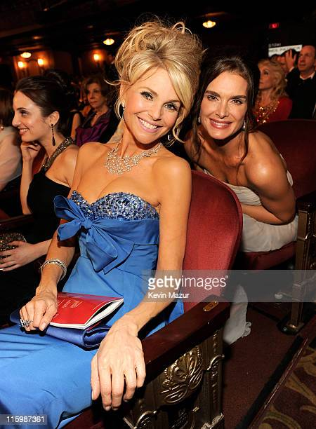Alexa Ray Joel Christie Brinkley and Brooke Shields attend the 65th Annual Tony Awards at the Beacon Theatre on June 12 2011 in New York City
