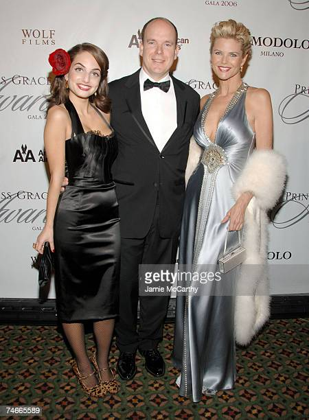 Alexa Ray Joel HSH Prince Albert II Of Monaco and Christie Brinkley at the Cipriani 42nd Street in New York City New York