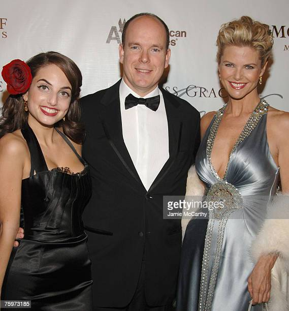 Alexa Ray Joel HSH Prince Albert II Of Monaco and Christie Brinkley