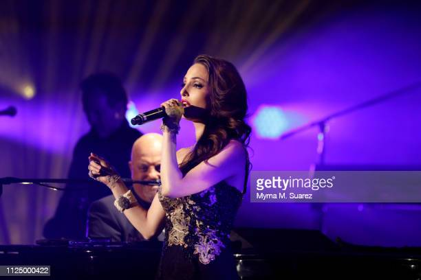 Alexa Ray Joel joins her father Billy Joel for a duet of 'New York State Of Mind' at the 61st sold out of show of his monthly residency at Madison...