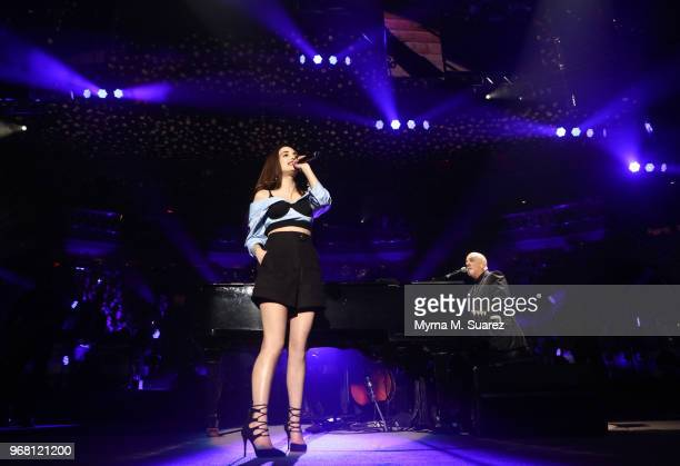 Alexa Ray Joel joins her father Billy Joel for the first time ever singing Baby Grand at Billy Joel's 53rd consecutive sold out show at Madison...