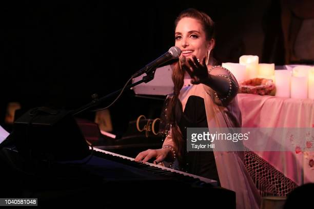 Alexa Ray Joel performs during the opening night of her 2018 residency at Cafe Carlyle on September 25 2018 in New York City