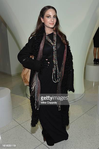 Alexa Ray Joel poses at the Elie Tahari Fall 2013 fashion show presentation during MercedesBenz Fashion Week at The Studio at Lincoln Center on...