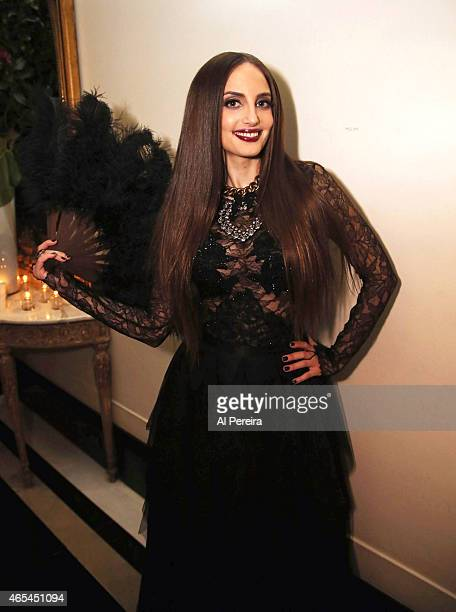 Alexa Ray Joel poses backstage after she performs at Cafe Carlyle on March 6 2015 in New York City